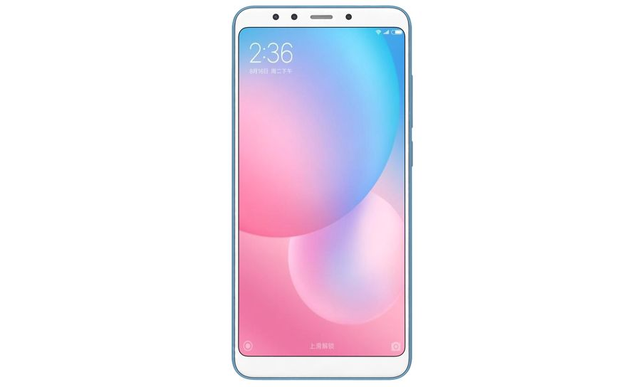 Xiaomi Redmi 5 Light Blue royalty-free 3d model - Preview no. 7