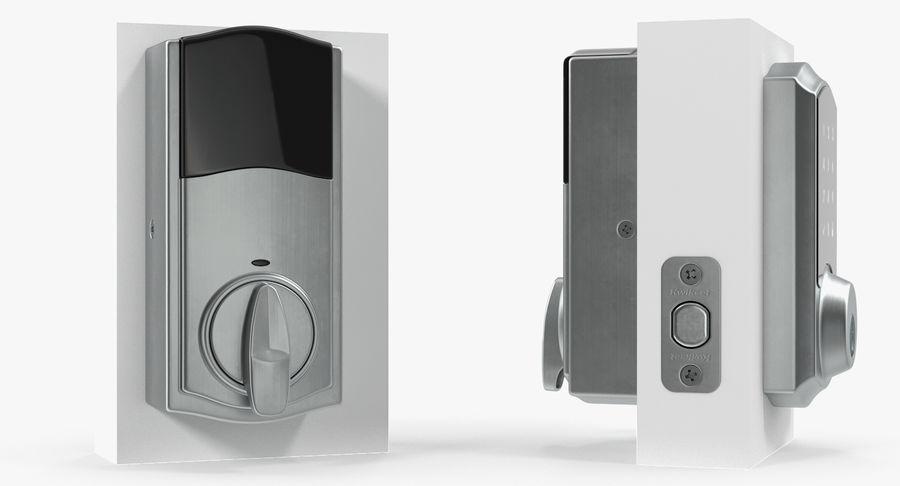 Touchscreen Smart Wireless Lock royalty-free 3d model - Preview no. 5