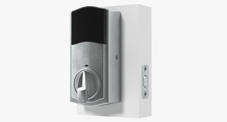 Touchscreen Smart Wireless Lock royalty-free 3d model - Preview no. 4