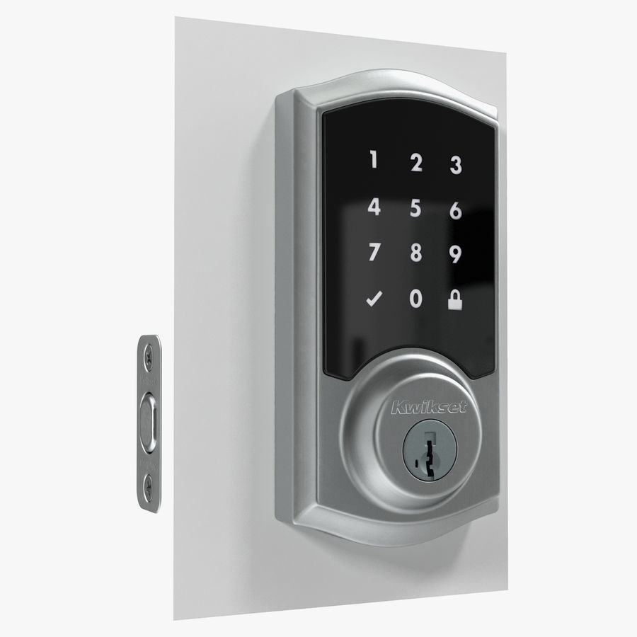 Touchscreen Smart Wireless Lock royalty-free 3d model - Preview no. 1