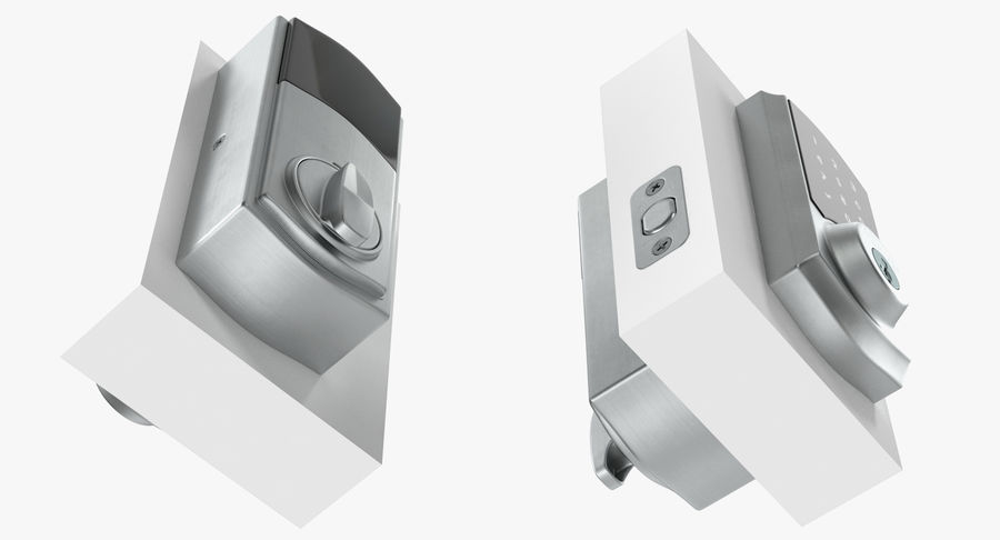 Touchscreen Smart Wireless Lock royalty-free 3d model - Preview no. 7