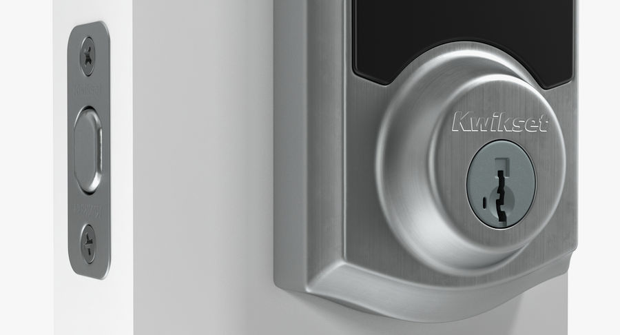 Touchscreen Smart Wireless Lock royalty-free 3d model - Preview no. 8
