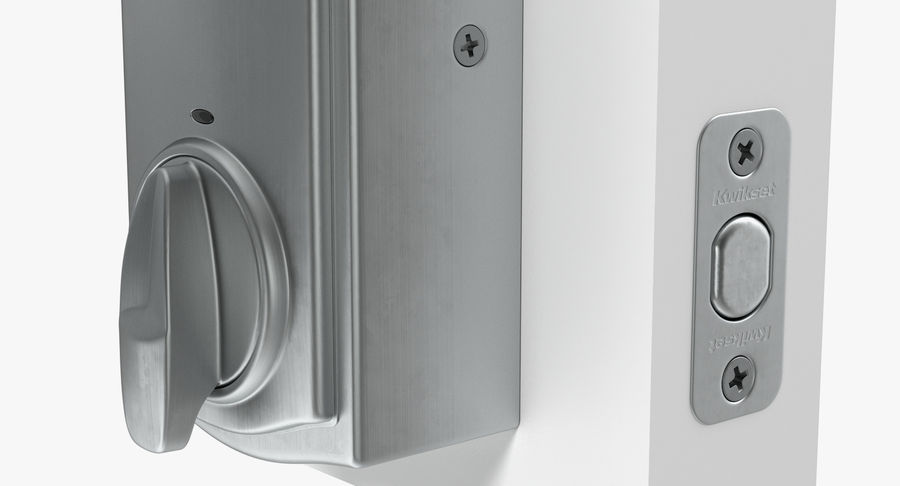 Touchscreen Smart Wireless Lock royalty-free 3d model - Preview no. 9