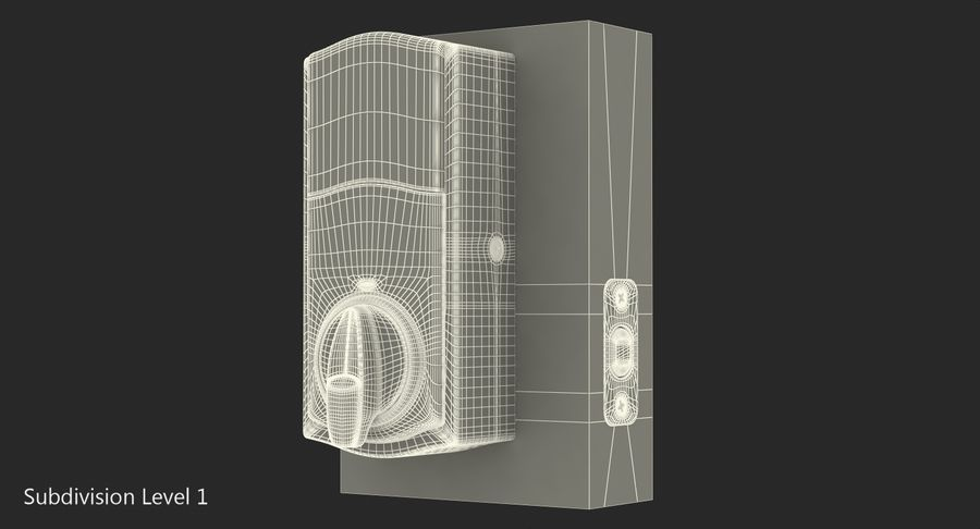 Touchscreen Smart Wireless Lock royalty-free 3d model - Preview no. 12