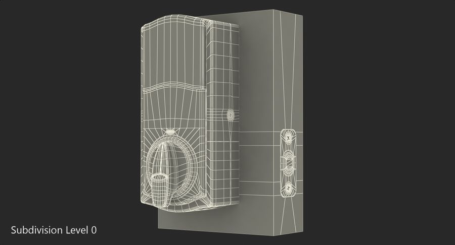 Touchscreen Smart Wireless Lock royalty-free 3d model - Preview no. 11
