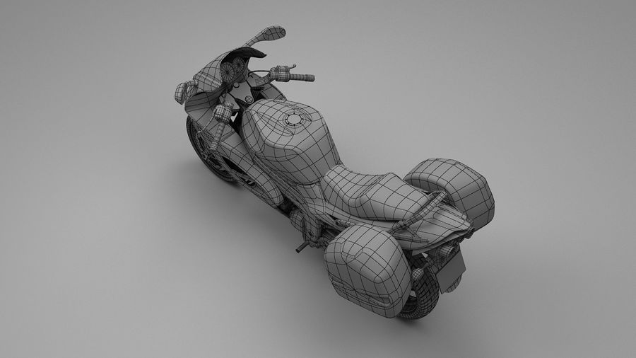 Motor Bike royalty-free 3d model - Preview no. 6