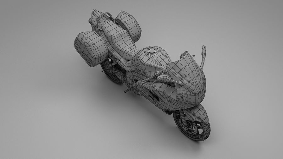 Motor Bike royalty-free 3d model - Preview no. 7