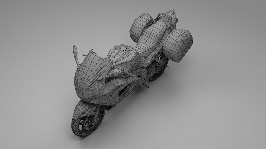 Motor Bike royalty-free 3d model - Preview no. 10