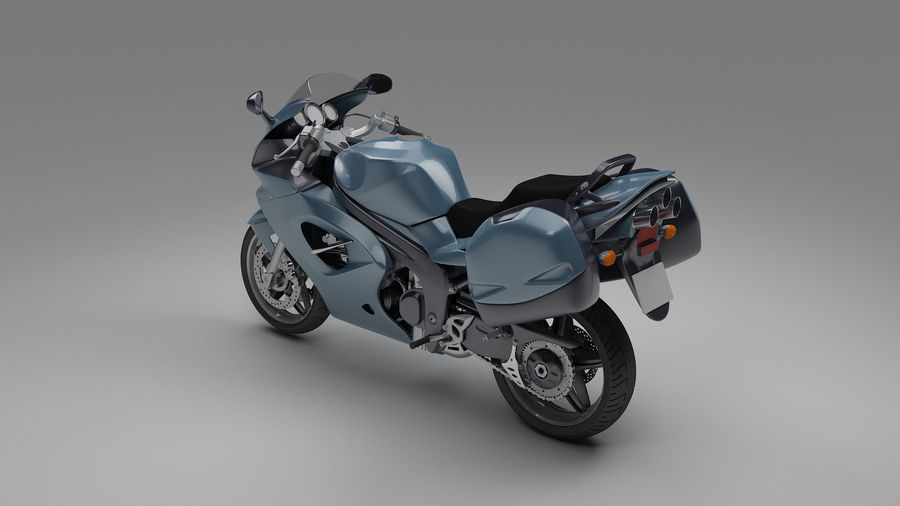 Motor Bike royalty-free 3d model - Preview no. 3