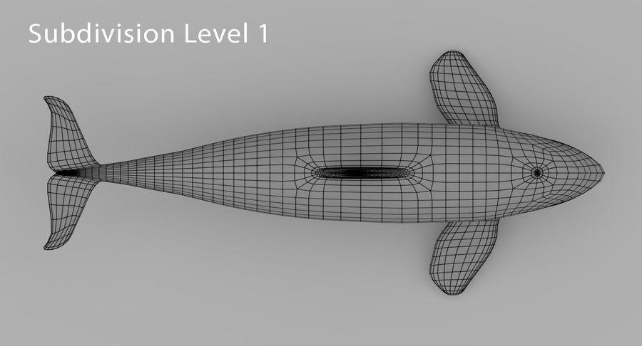 Katil balina royalty-free 3d model - Preview no. 11