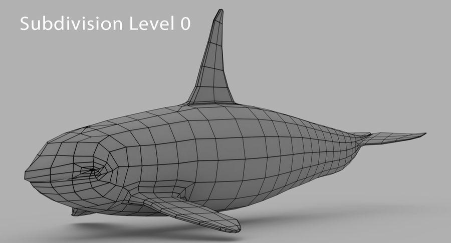 Katil balina royalty-free 3d model - Preview no. 8