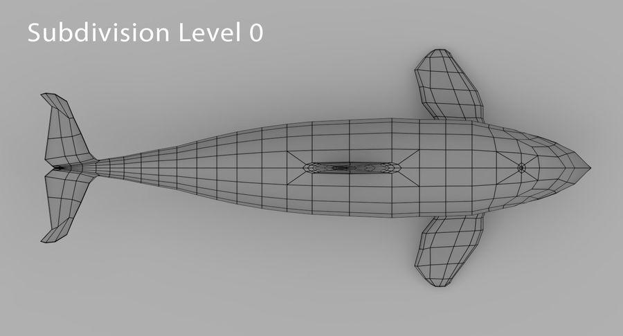 Katil balina royalty-free 3d model - Preview no. 10