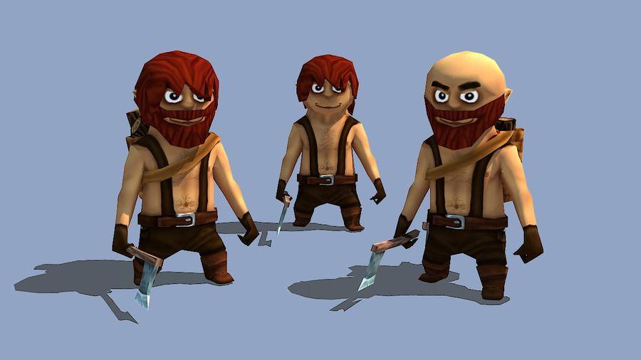 Personagens de fantasia animados royalty-free 3d model - Preview no. 4