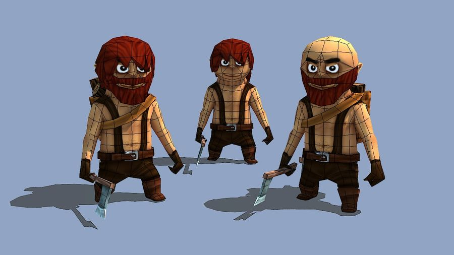 Personagens de fantasia animados royalty-free 3d model - Preview no. 5