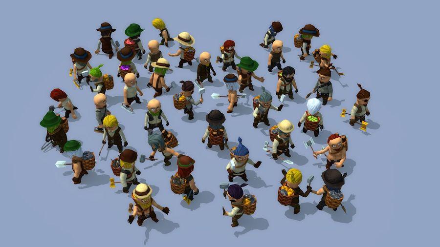 Personagens de fantasia animados royalty-free 3d model - Preview no. 1