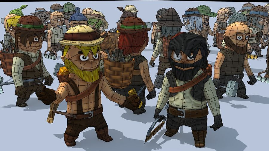 Personagens de fantasia animados royalty-free 3d model - Preview no. 3