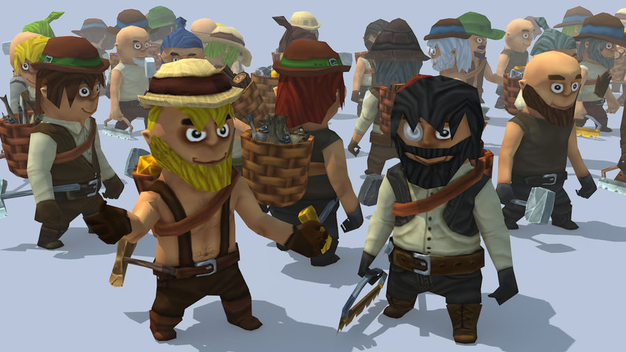 Animated Fantasy Characters royalty-free 3d model - Preview no. 2