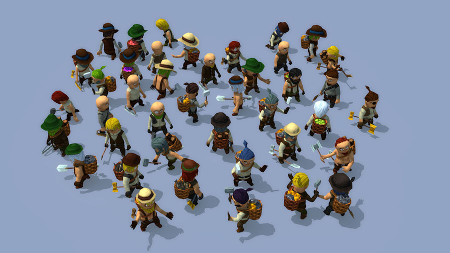 Animated Fantasy Characters royalty-free 3d model - Preview no. 1