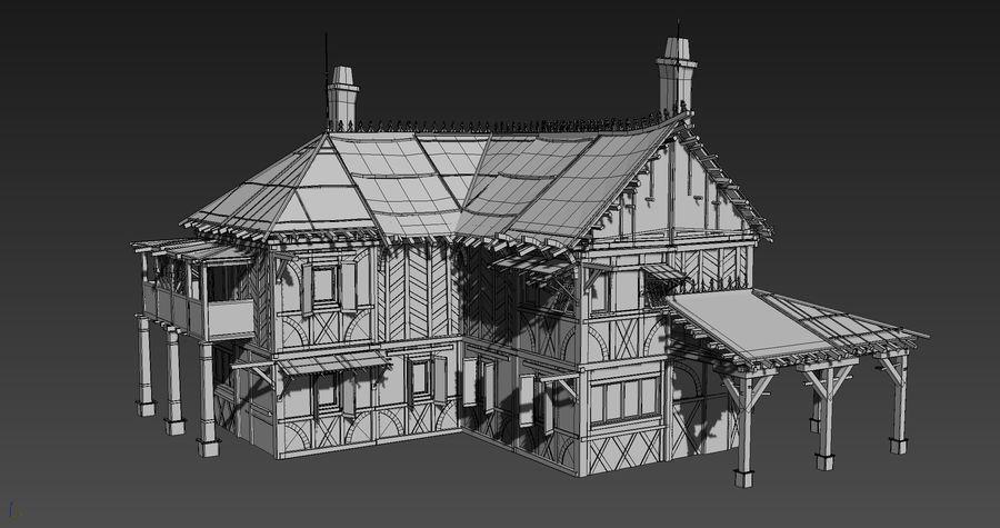 Średniowieczna fantazja domowa 10 royalty-free 3d model - Preview no. 7