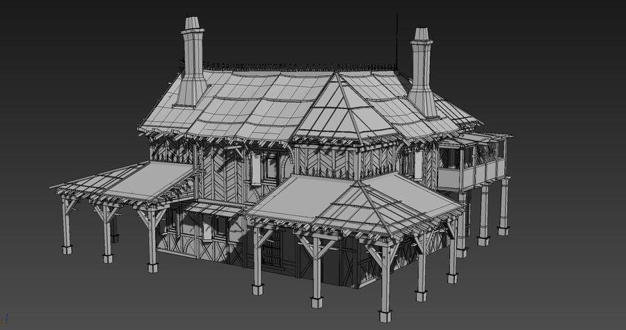 Średniowieczna fantazja domowa 10 royalty-free 3d model - Preview no. 6