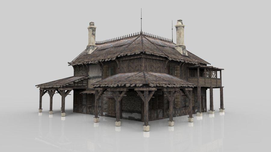 Średniowieczna fantazja domowa 10 royalty-free 3d model - Preview no. 3