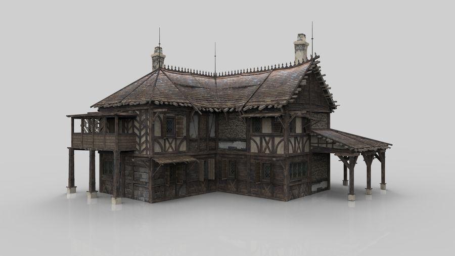 Średniowieczna fantazja domowa 10 royalty-free 3d model - Preview no. 5