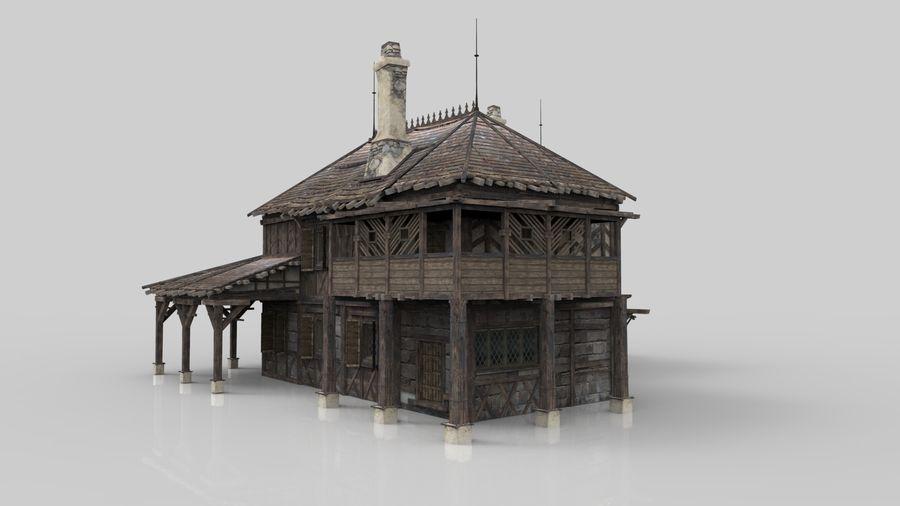 Średniowieczna fantazja domowa 10 royalty-free 3d model - Preview no. 2