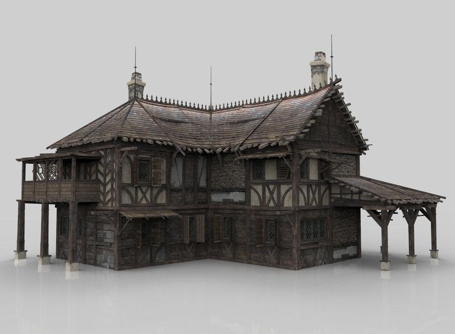 Średniowieczna fantazja domowa 10 royalty-free 3d model - Preview no. 1