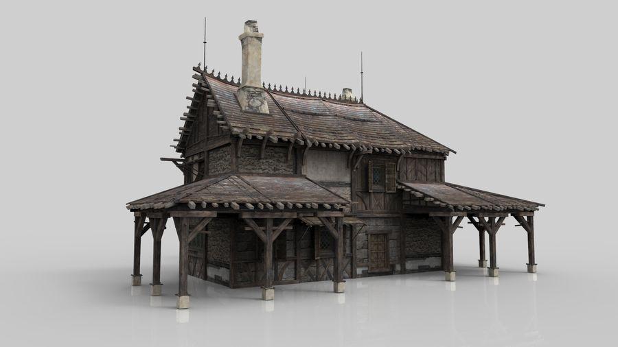 Średniowieczna fantazja domowa 10 royalty-free 3d model - Preview no. 4