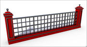 Ogrodzenie bramy 3d model