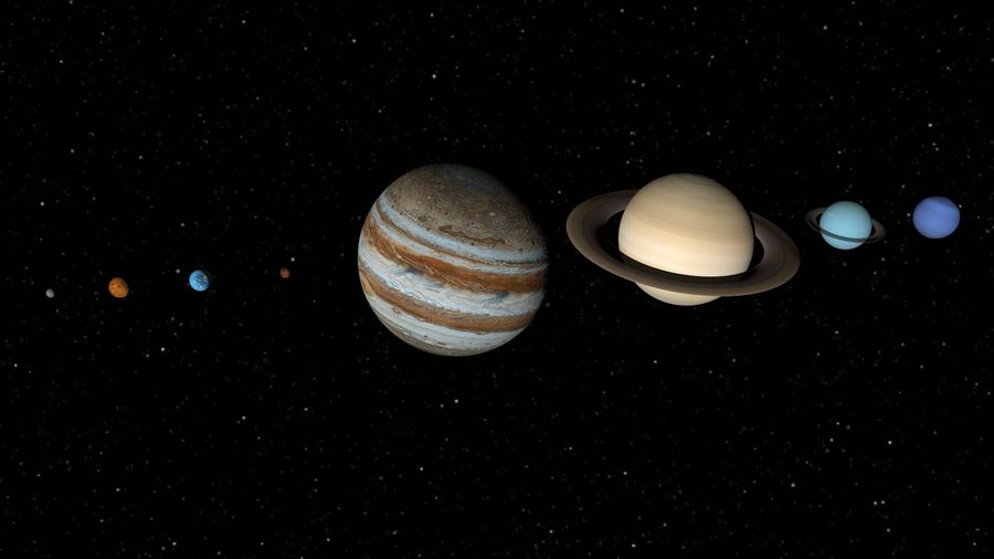 Solar System Planets royalty-free 3d model - Preview no. 1
