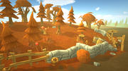 Lowpoly Toon Autumn Forest 3d model