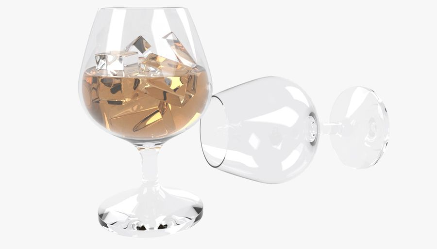 Whiskey glass royalty-free 3d model - Preview no. 1