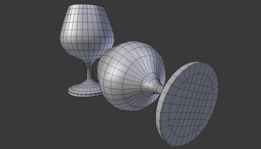 Whiskey glass royalty-free 3d model - Preview no. 4