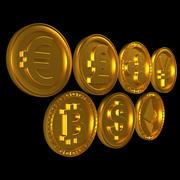 Pièces de monnaie 3d model