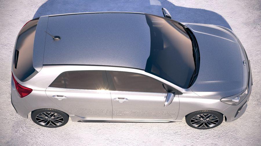 Kia Rio GT Line 2018 royalty-free 3d model - Preview no. 8