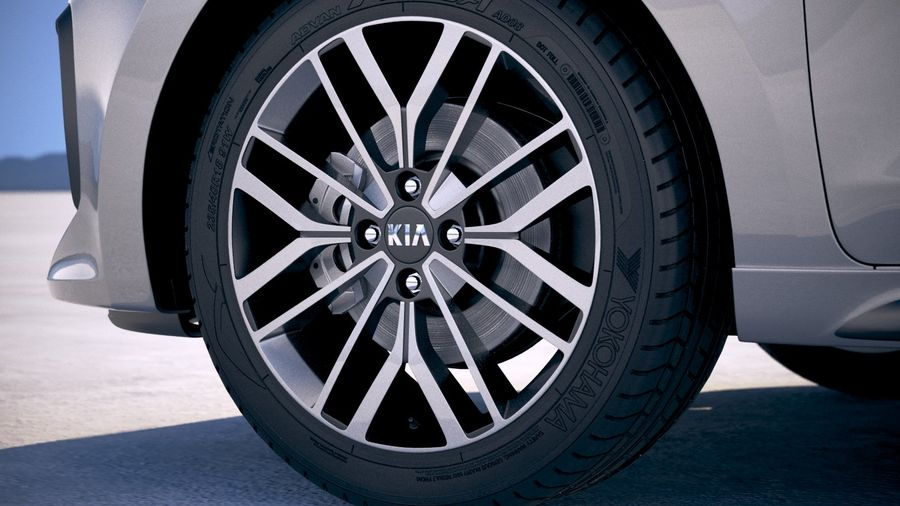 Kia Rio GT Line 2018 royalty-free 3d model - Preview no. 15