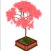 Asian Pink Tree 3d model