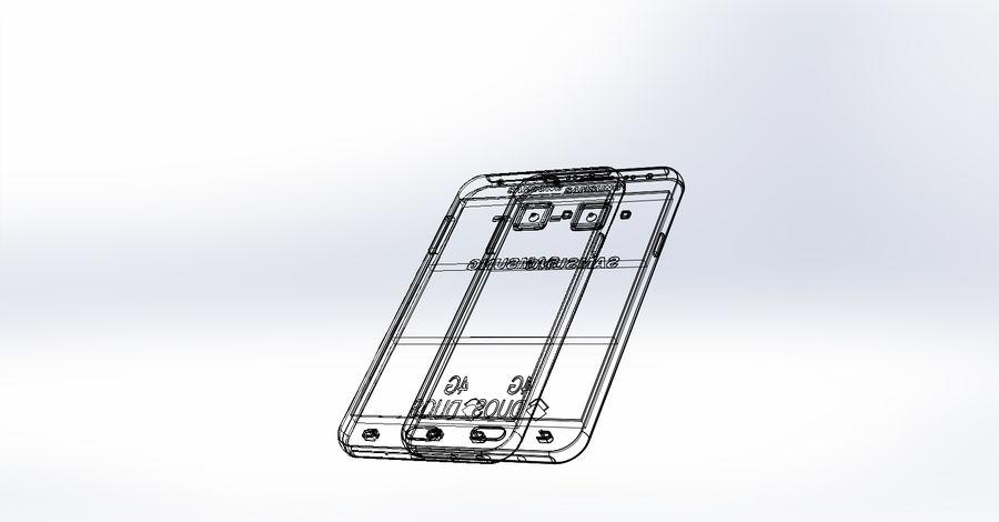 삼성 J7 royalty-free 3d model - Preview no. 5