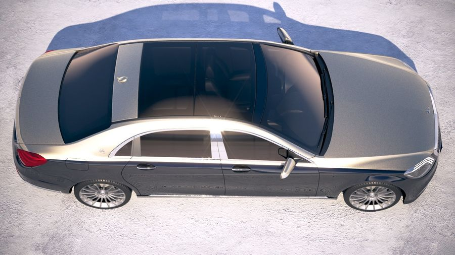 Mercedes Maybach 2019 royalty-free 3d model - Preview no. 8