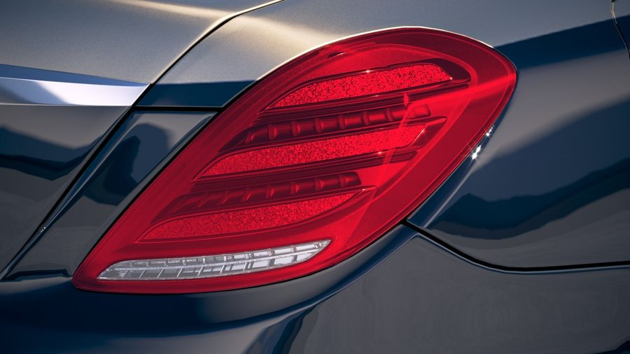 Mercedes Maybach 2019 royalty-free 3d model - Preview no. 17