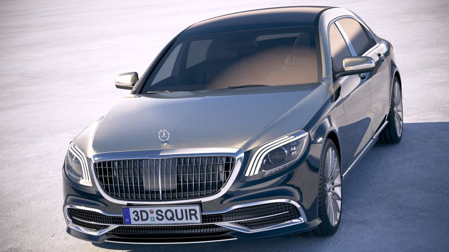 Mercedes Maybach 2019 royalty-free 3d model - Preview no. 2