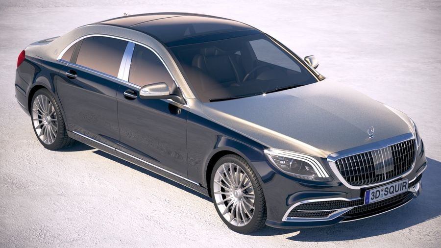 Mercedes Maybach 2019 royalty-free 3d model - Preview no. 12