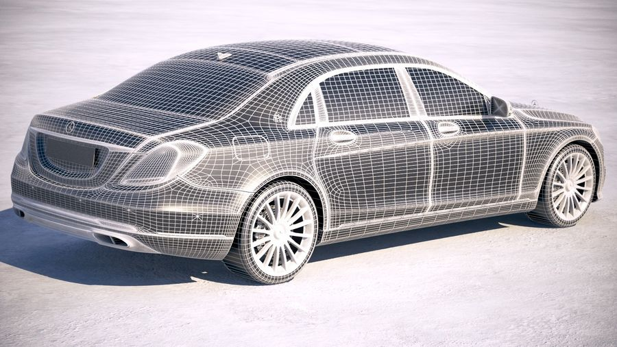 Mercedes Maybach 2019 royalty-free 3d model - Preview no. 19