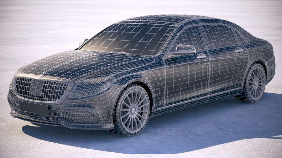Mercedes Maybach 2019 royalty-free 3d model - Preview no. 20