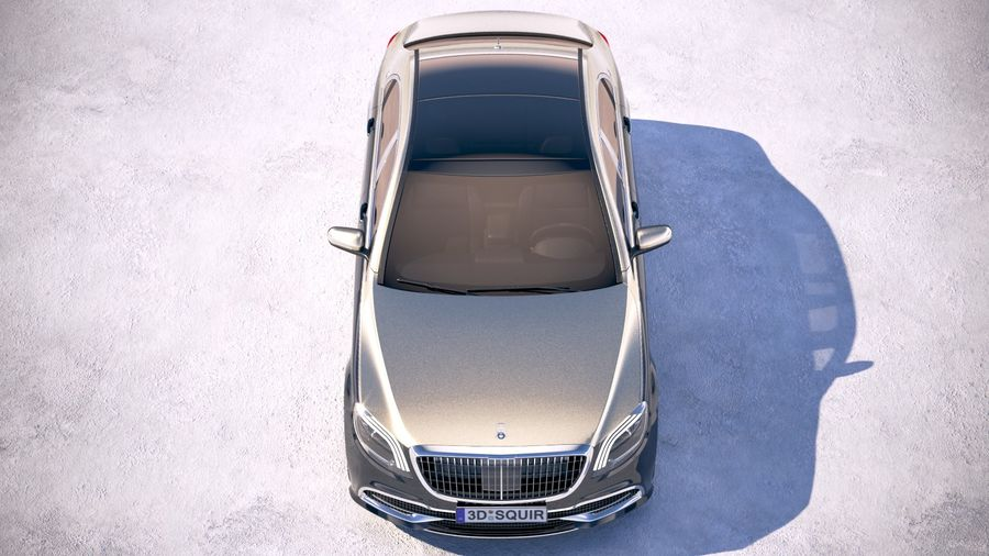 Mercedes Maybach 2019 royalty-free 3d model - Preview no. 9
