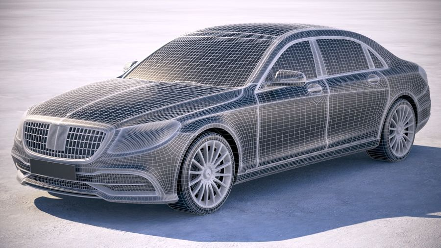 Mercedes Maybach 2019 royalty-free 3d model - Preview no. 18