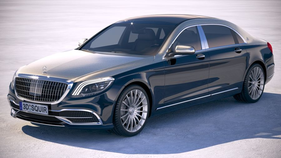 Mercedes Maybach 2019 royalty-free 3d model - Preview no. 1
