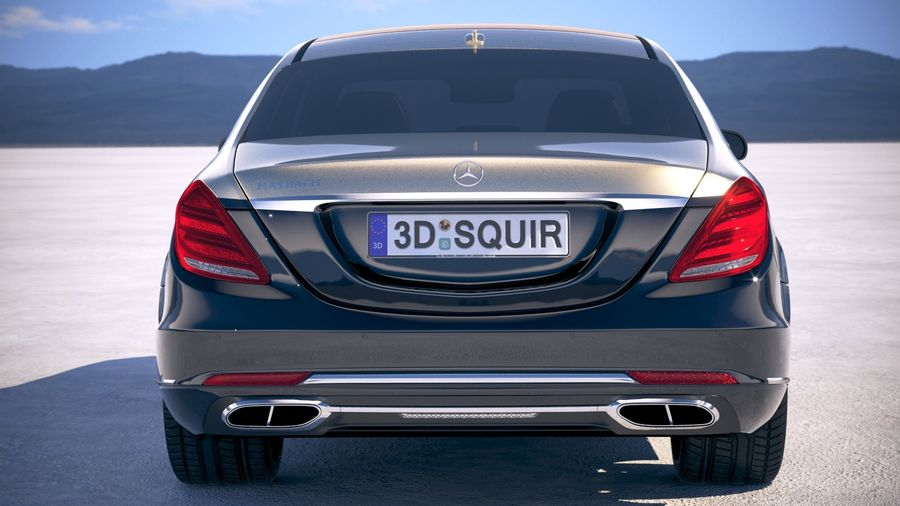 Mercedes Maybach 2019 royalty-free 3d model - Preview no. 11