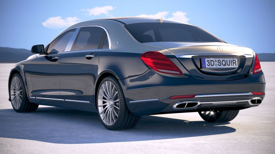 Mercedes Maybach 2019 royalty-free 3d model - Preview no. 14